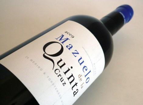 La botella de Mazuelo de la Quinta Cruz.