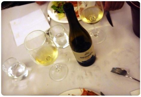 El vino Albariño Segrel de Pablo Padín.