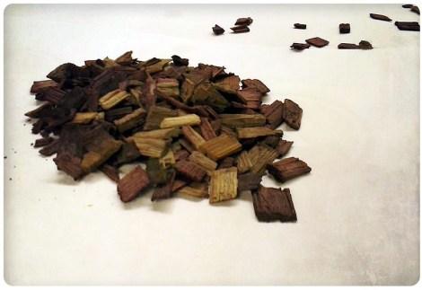 Chips de madera.