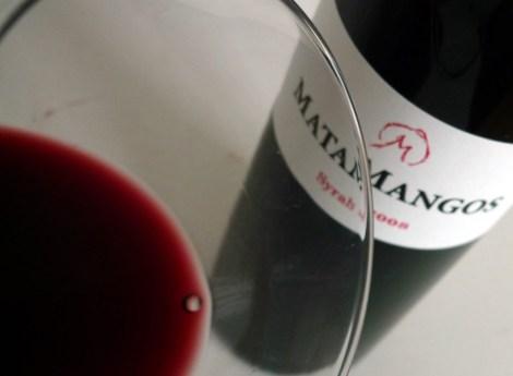 Detalle del vino Matamangos Syrah.
