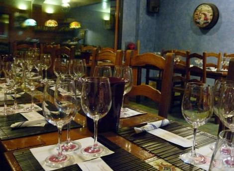 La mesa puesta en La Envidia Cochina.