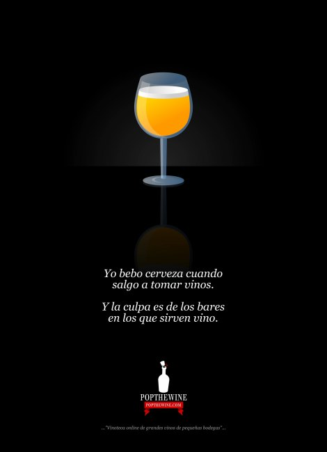 Infografía cerveza en vez de vinos.