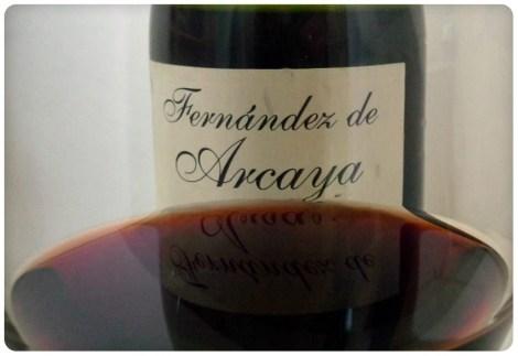 El vino Fernández de Arcaya Reserva.