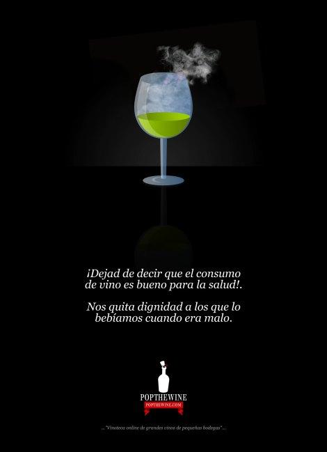 El vino es malo para la salud.