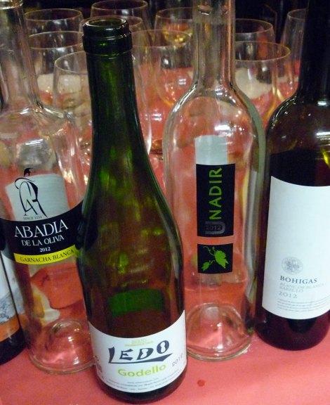 Los vinos de la cata.