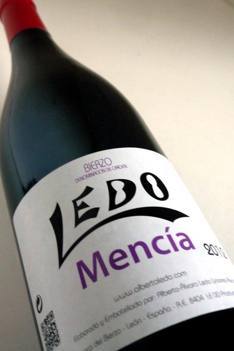 Botella de Ledo Mencia