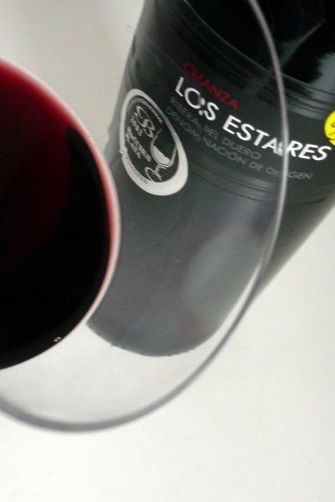Detalle del vino Los Estares Crianza.