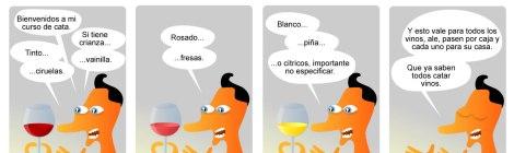 Narciso Napia en Curso de cata.