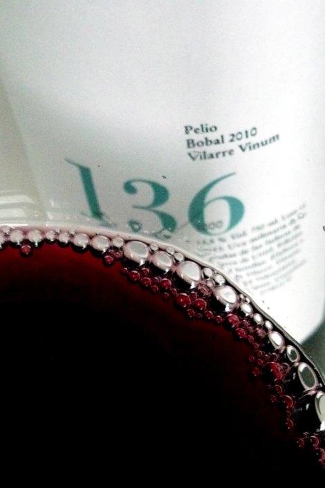 Detalle del vino.