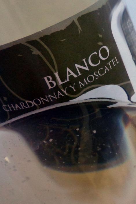 Reflejo del vino Beramendi 3f Blanco.