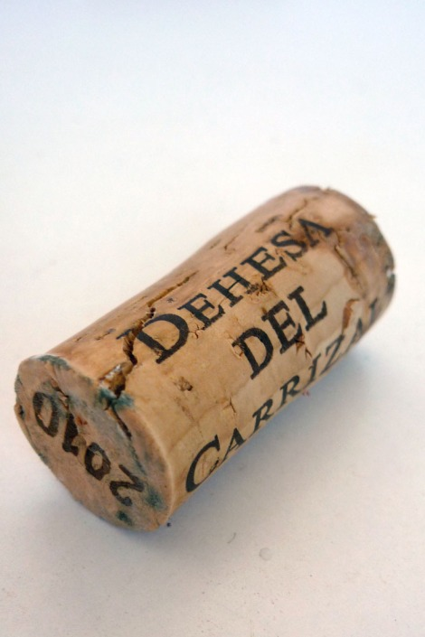 Corcho del vino Dehesa del Carrizal Chardonnay.