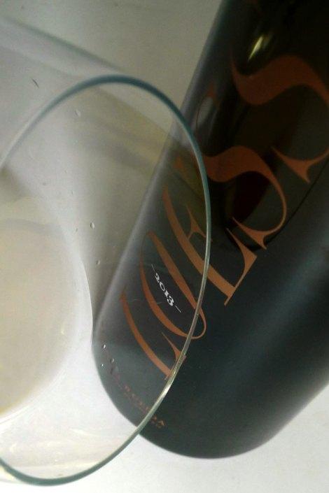El color del vino Loess Verdejo.