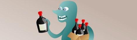 Vino para fiestas, botellas necesarias.