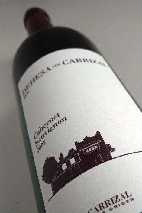 Etiquetado de Dehesa del Carrizal Cabernet Sauvignon.