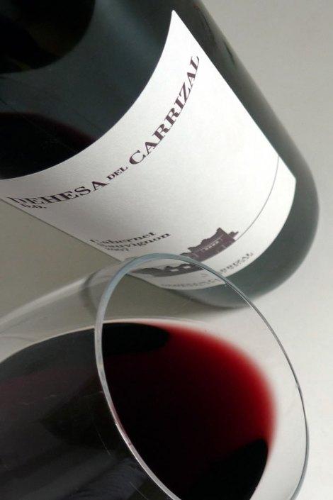 Dehesa del Carrizal Cabernet Sauvignon en la copa.