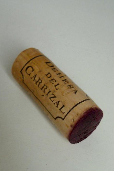 Detalle del corcho del vino Dehesa del Carrizal Cabernet Sauvignon.