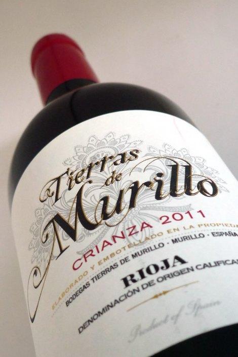 Etiquetado del vino Tierras de Murillo Crianza