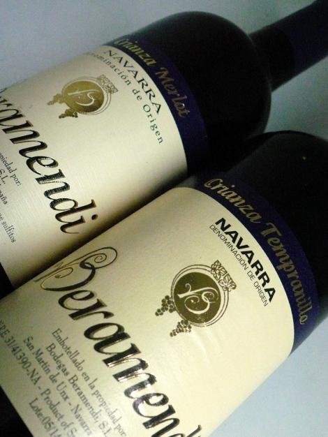 Dos botellas de Beramendi Crianza