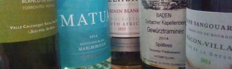 Los vinos blancos catados.
