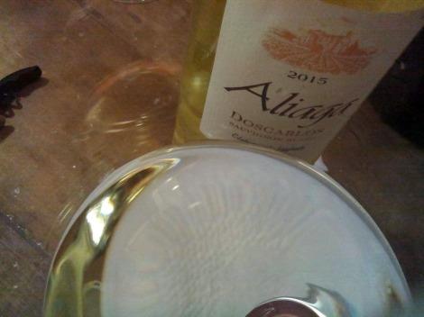 Detalle de Aliaga Doscarlos en la copa.