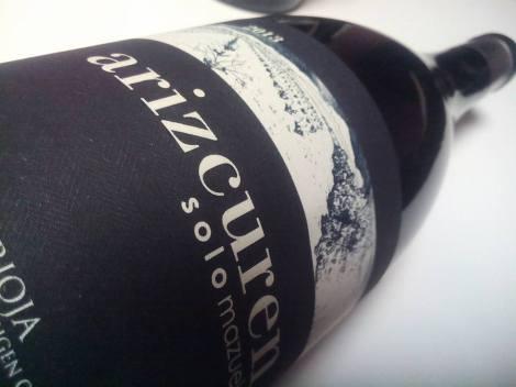 La botella de Arizcuren Solomazuelo.