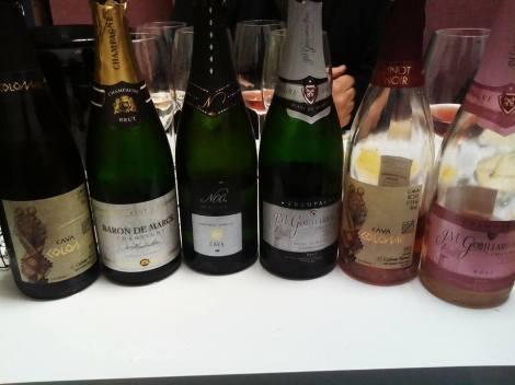 Las botellas bebidas durante la cata... en orden de izquierda a derecha.