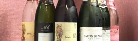 Los vinos espumosos bebidos durante esta cata.