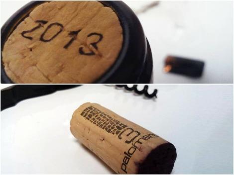 Detalle del corcho del vino 3 Palomares Crianza.