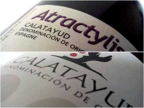 Detalles del etiquetado del vino Atractylis.