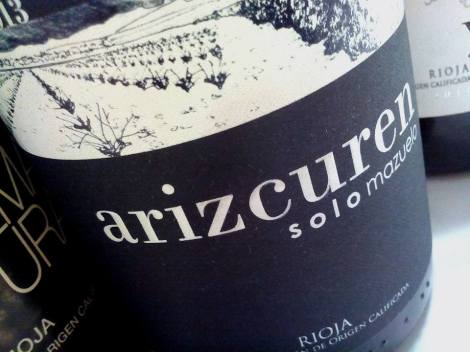 El primer vino de la cata: Arizcuren Solomazuelo del 2013.