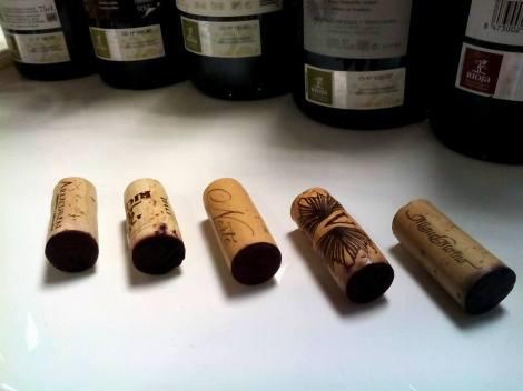 Corchos de calidad (y caros) para vinos de calidad.