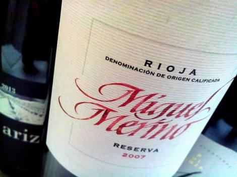 El último vino Miguel Merino Reserva 2007.
