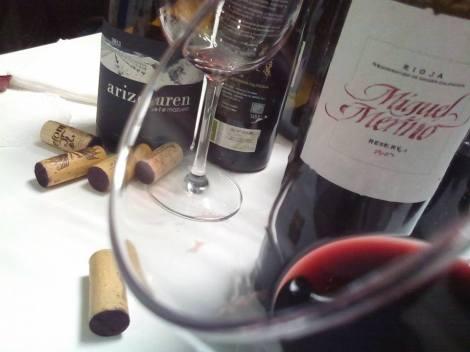 El vino Miguel Merino Reserva 2007 en la copa.