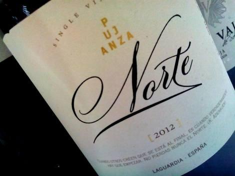 Tercer vino: Pujanza Norte de Bodegas Pujanza.