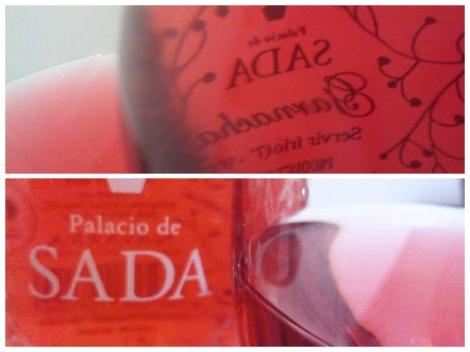 Detalles del vino rosado de Sada.