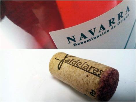 Detalles del etiquetado de Valdelares rosado 2015.