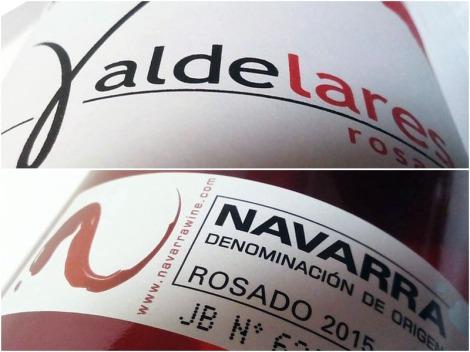 Valdelares Rosado 2015, detalles del etiquetado.
