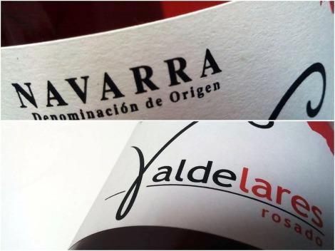 Etiquetado de Valdelares Rosado Expresión 2015.