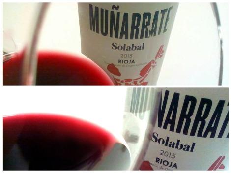 Detalles de Muñarrate Tinto 2015 en la copa.