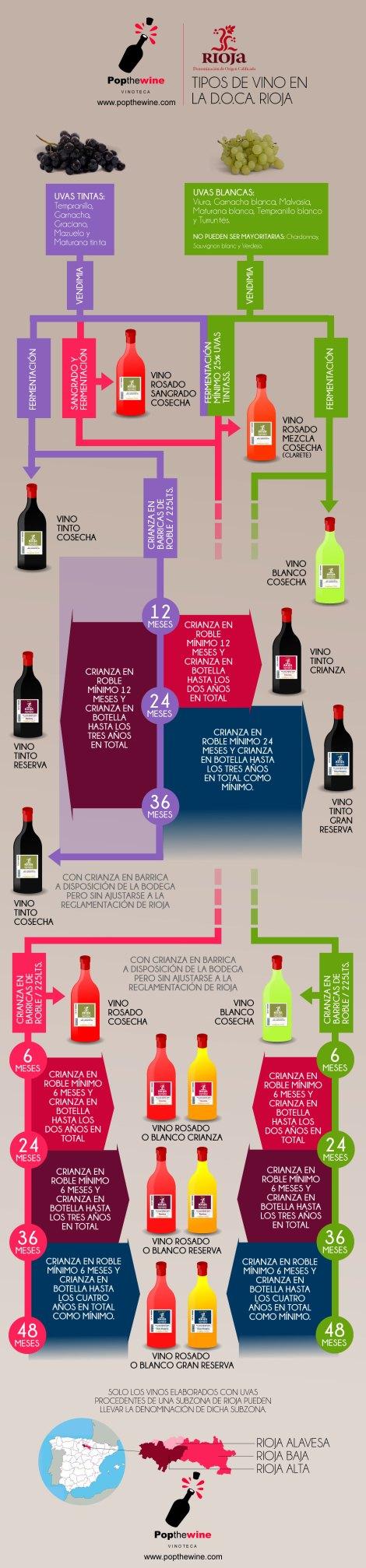 Infografía Clasificación vinos D.O.Ca. Rioja