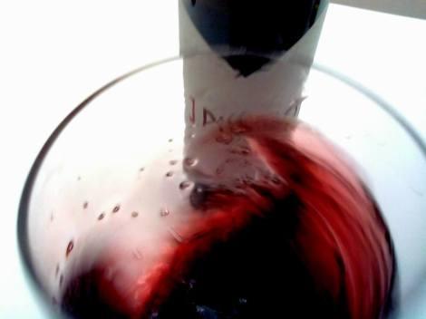 Oxigenando el vino 1 Pulso en la copa.