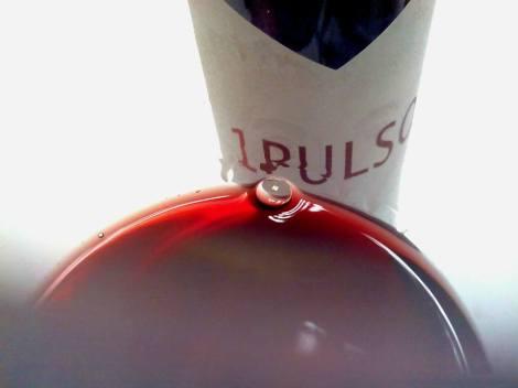 El vino 1 Pulso en la copa.