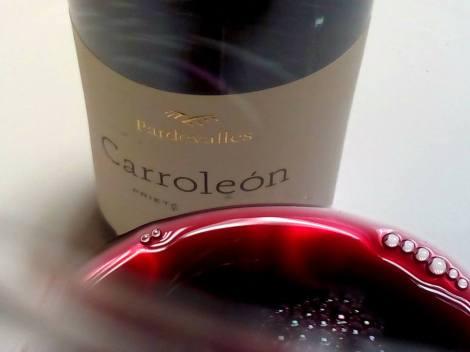 El vino Carroleón 2011 en la copa.