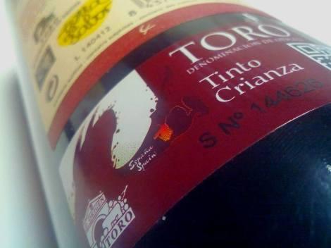 Sello de la D.O. Toro en la botella de Liberalia Cuatro.