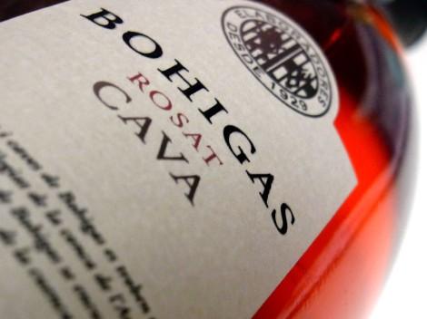 La botella del cava Bohigas Reserva Brut Rosado.