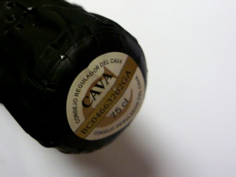 Sello de la D.O. Cava en la botella de Bohigas Brut Rosado.