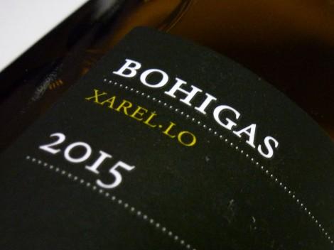 Detalle e la contra-etiqueta de Bohigas Xarel·lo.