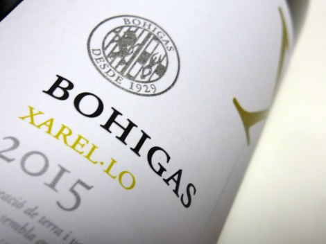 Detalle del etiquetado de Bohigas Xarel·lo.