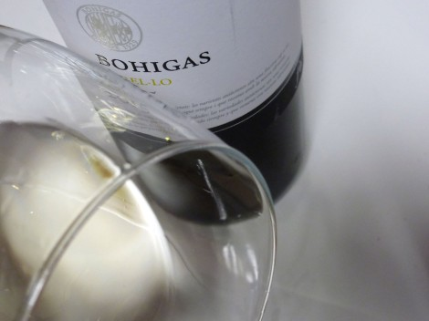 Detalle del vino Bohigas Xarel·lo en la copa.
