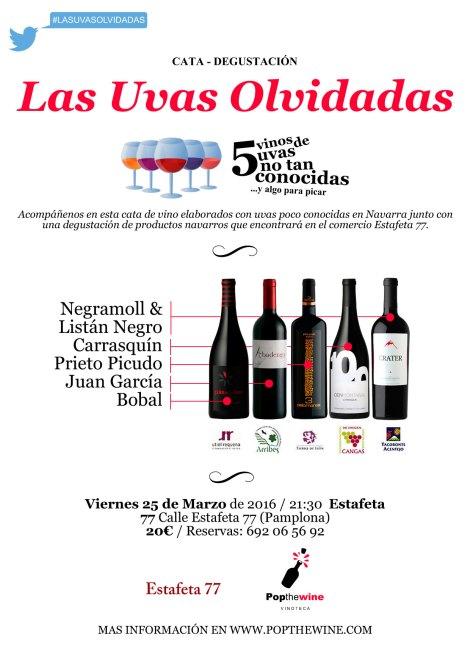 El cartel de la cata Las Uvas Olvidadas.